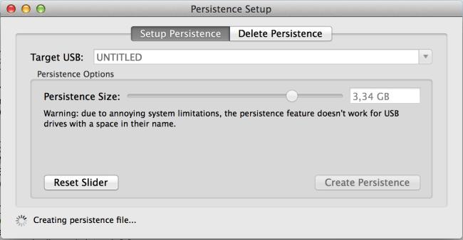 Persistence Setup